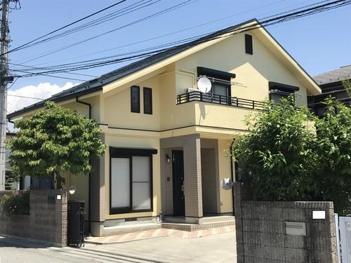 外壁塗装、屋根、軒天、破風板、雨どい塗装 コーキング工事 横須賀市 K様邸