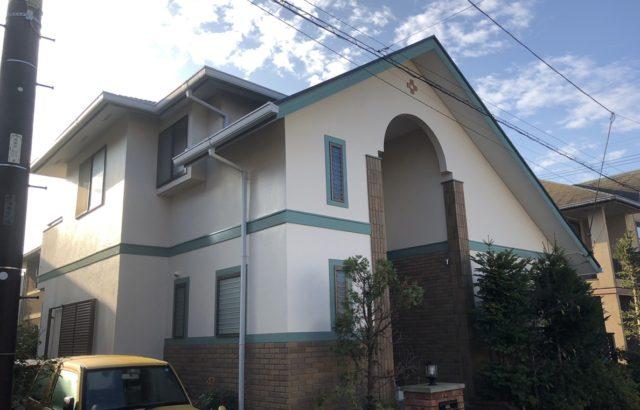 神奈川県逗子市 外壁塗装 屋根カバー工事 コーキング工事