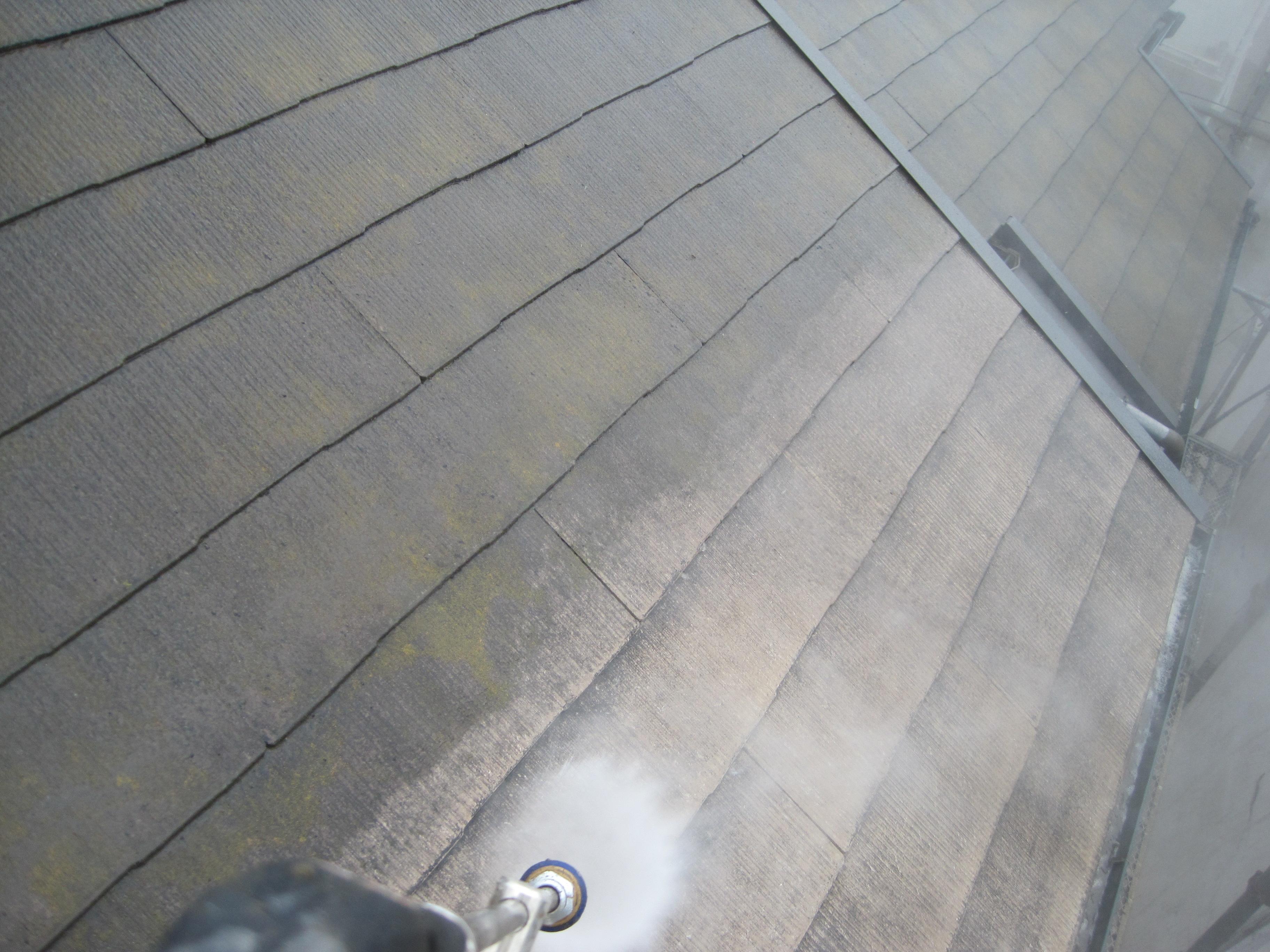 屋根塗装高圧洗浄