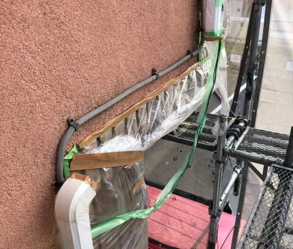 神奈川県横須賀市 外壁塗装 養生 塗装開始前 下準備