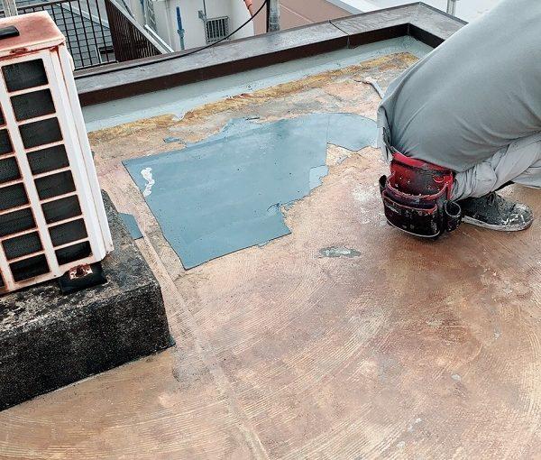 神奈川県横須賀市 屋根塗装 屋上防水工事 ウレタン防水 通気緩衡工法