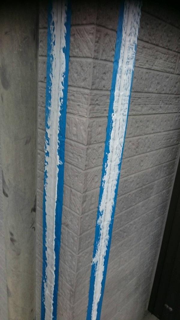 神奈川県三浦市 外壁塗装 コーキング(シーリング)工事 先打ち