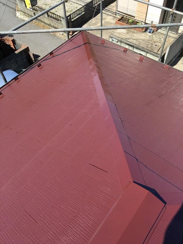 神奈川県横須賀市 屋根塗装 下地処理 セミフロンルーフⅡ