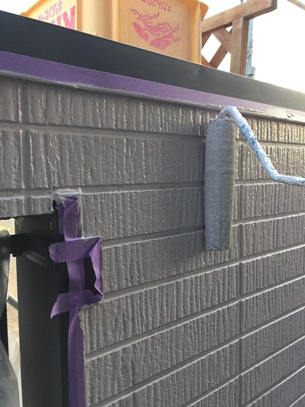 神奈川県逗子市 外壁塗装 中塗り・上塗り 日本ペイント パーフェクトトップ ラジカル制御式