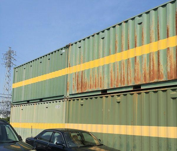 神奈川県横須賀市 海上輸送用コンテナ塗装 塩害について