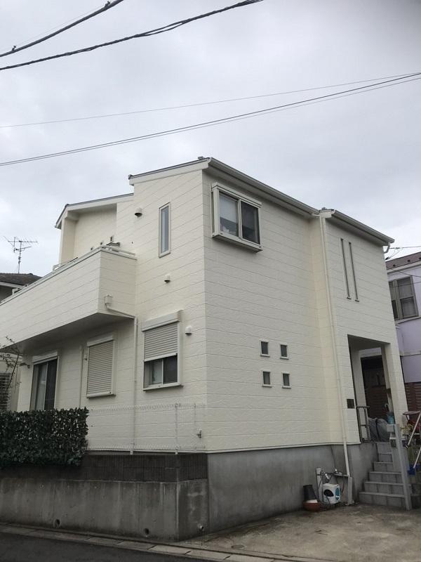 神奈川県三浦郡葉山町 外壁塗装 付帯部塗装 ひび割れ補修方法 ケレン作業