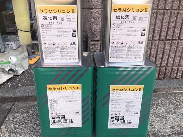 神奈川県横須賀市 外壁塗装 2回目以降の塗装工事の注意事項 関西ペイント セラMシリコンIII (2)