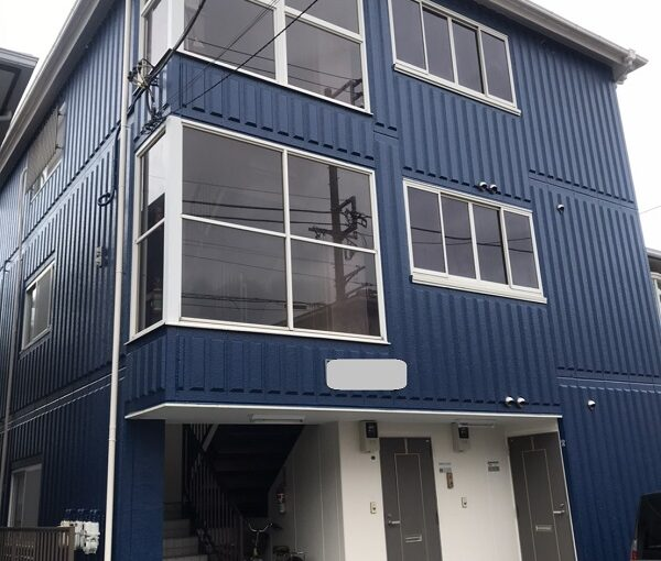 神奈川県三浦市 外壁塗装 屋根塗装 アパート 塗装で高級感のある外観に。 (2)